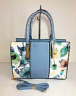Брендовая женская сумка с цветочным принтом - модель 2018 - Арт 98110