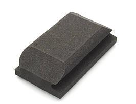 56010 125х70 мм.  Шлифованный блок под руку черный - Flexipads Shaped Block