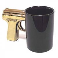 Чашка Пистолет золотая