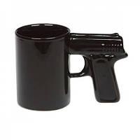 Чашка Пистолет черная