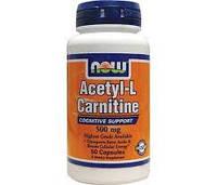 Жиросжигатель Now Foods Acetyl-L-Carnitine 500 mg 50caps
