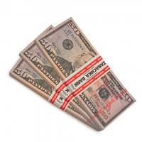Пачка денег по 50 долларов