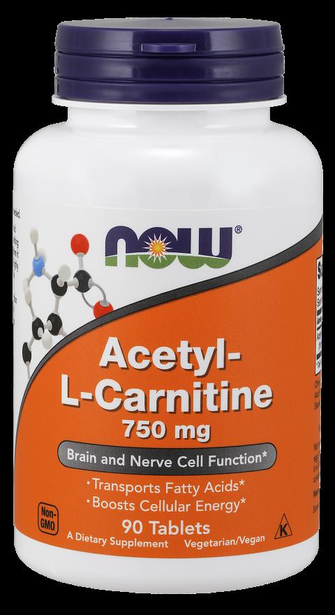 Жиросжигатель NOW Foods Acetyl-L-Carnitine 750mg 90tab