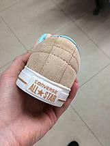 Кроссовки женские Converse бежевые, фото 2