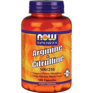 Аргинин NOW Foods Arginine and Citrulline 500/250mg 120caps