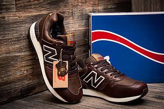 Зимние кроссовки на меху в стиле New Balance C-CAP, коричневые (3199-1),  [  46 (последняя пара)  ], фото 3