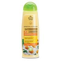 Шампунь-бальзам Объем и блеск для нормальных и окрашенных волос Ромашка Злато трав 500 мл