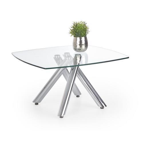 Журнальний кофейний стіл зі скла у вітальню Almera Halmar