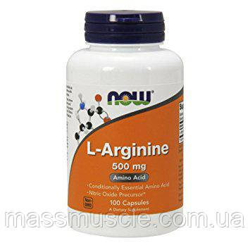 Аргинин NOW Foods L-Arginine 500mg 100 caps