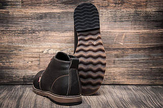 Зимние кроссовки в стиле Levi's, коричневые (3814-2),  [  45 (последняя пара)  ], фото 2