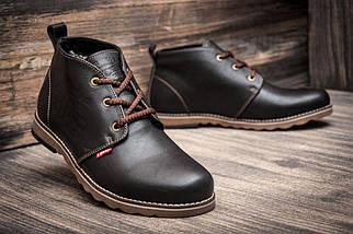 Зимние кроссовки в стиле Levi's, коричневые (3814-2),  [  45 (последняя пара)  ], фото 3