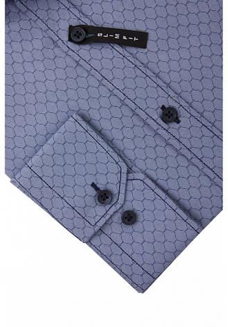 Рубашка серо-синяя с узором сот. KS 1759-1 разм. M, фото 2