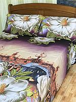 Двуспальный комплект постельного белья 180*220  из ранфорса  1