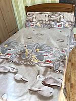 Двуспальный комплект постельного белья 180*220  из ранфорса 2
