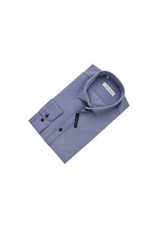Рубашка серо-синяя с узором сот KS 1759-1 разм. L, фото 2