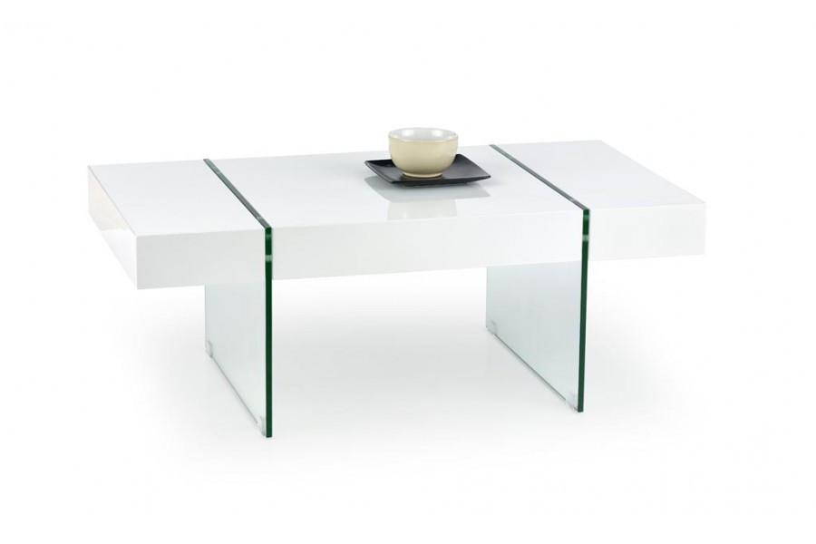 Журнальний кофейний стіл зі скла у вітальню Amber Halmar