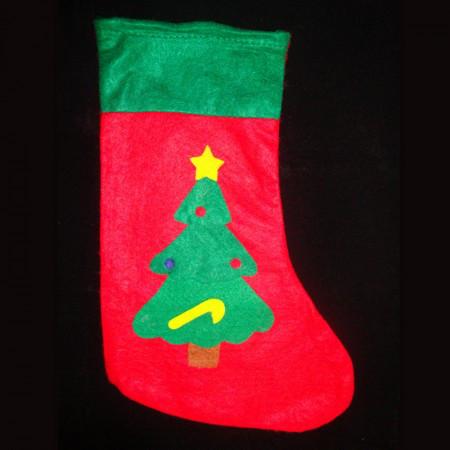 Рождественский носок с аппликацией