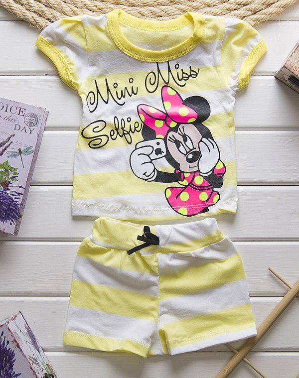 Летний костюм для девочки шорты + футболка Мини