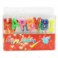 Свечи буквы HAPPY набор в коробке