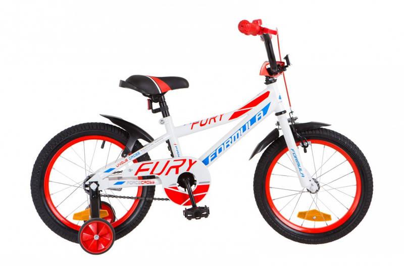 """Велосипед детский Formula Fury 16"""" бело-красный"""
