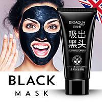 Оригинал 100% Черная маска-плёнка с бамбуковым углём BIOAQUA Blackhead Removal Bamboo Charcoal Black Mask, фото 1