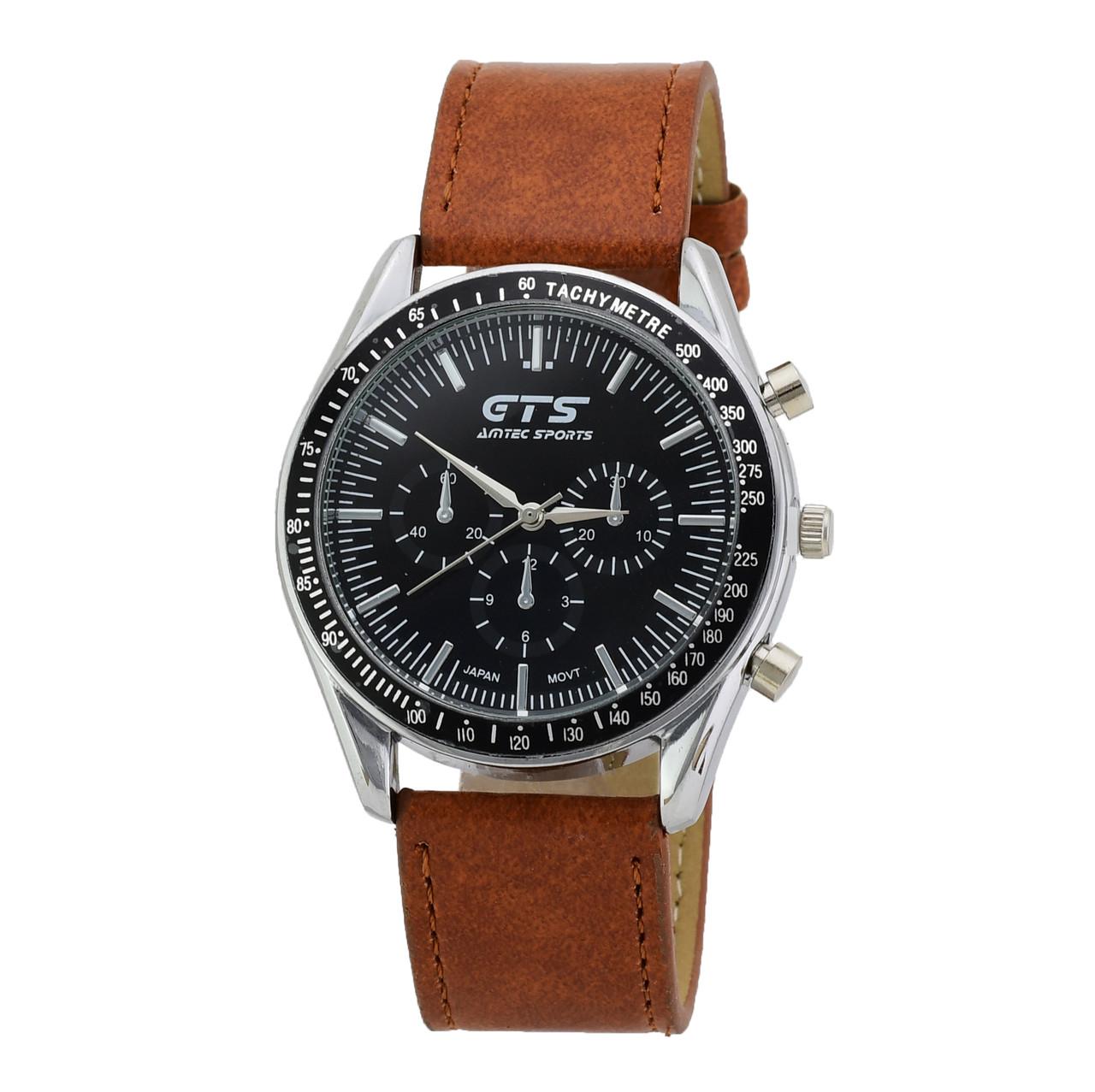 Часы G-060 с японским механизмом, диаметр циферблата 4.2 см, длина ремешка 18-22 см, коричневый цвет