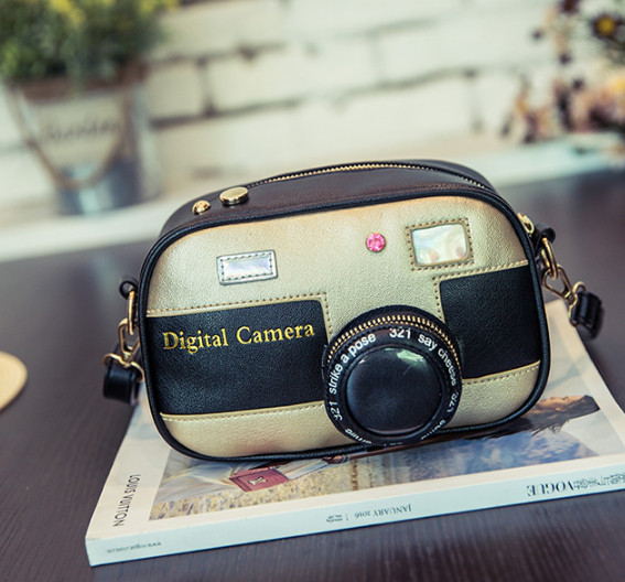 Эксклюзивная сумка в виде фотоаппарата Цвет беж
