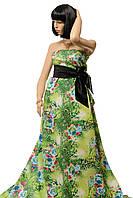 Дайвинг принтованный с рисунком леопард+цветы зеленый, продажа оптом и в розницу