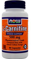 Жиросжигатель NOW Foods L-Carnitine 500mg 60 caps