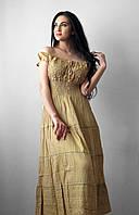 Легкий, воздушный, струящийся сарафан. Произв-во Индия.  100% хлопок. Размеры: 48-56