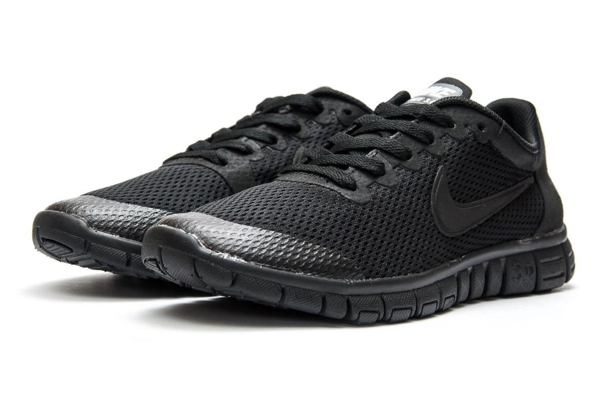 Женские кроссовки Nike Free 3.0.Черные,сетка