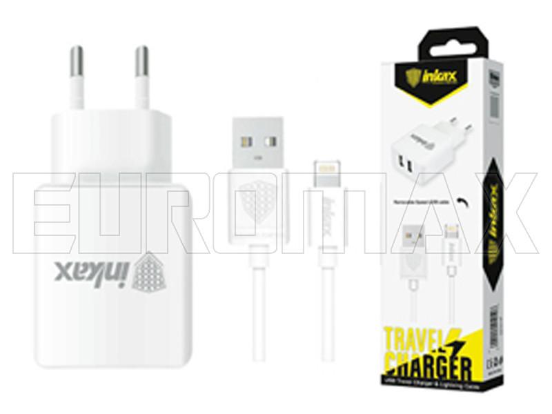 Зарядное устройство 220В с кабелем USB - Lightning Inkax (уп. 20шт) 200шт CD-01-IP-i5