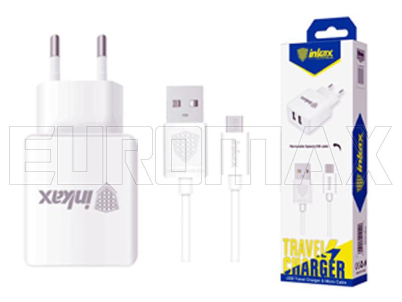 Зарядное устройство 220В с кабелем USB - micro USB Inkax (уп. 20шт) 200шт CD-01-M-V8