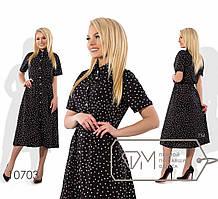 Женское платье-рубашка из шифона