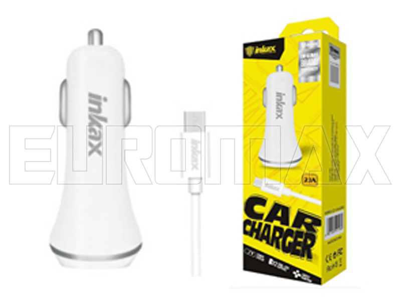 Зарядное устройство для авто 12В с кабелем USB - micro USB Inkax CD-12-M-V8