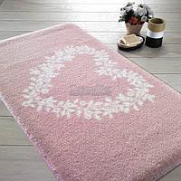"Коврик для ванной Confetti ""Spring Heart"" 57х100 см розовый (8670318756534)"