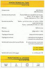 Скатерть 230х390см для стола 80х240/75см Белая Италия, фото 3