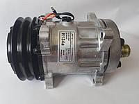 Компрессор кондиционера универсальный, аналог SANDEN, 7Н15, А2,  12V, АCTECmax, фото 1