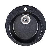 Гранитная мойка Fosto 470 Черная ( крулая )