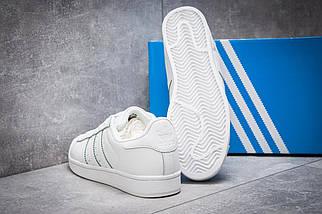 Кроссовки женские Adidas Superstar, белые, фото 3