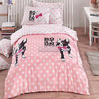 """Постельное белье Eponj Home """"Boston"""" подросковый розовое (6000000136062)"""