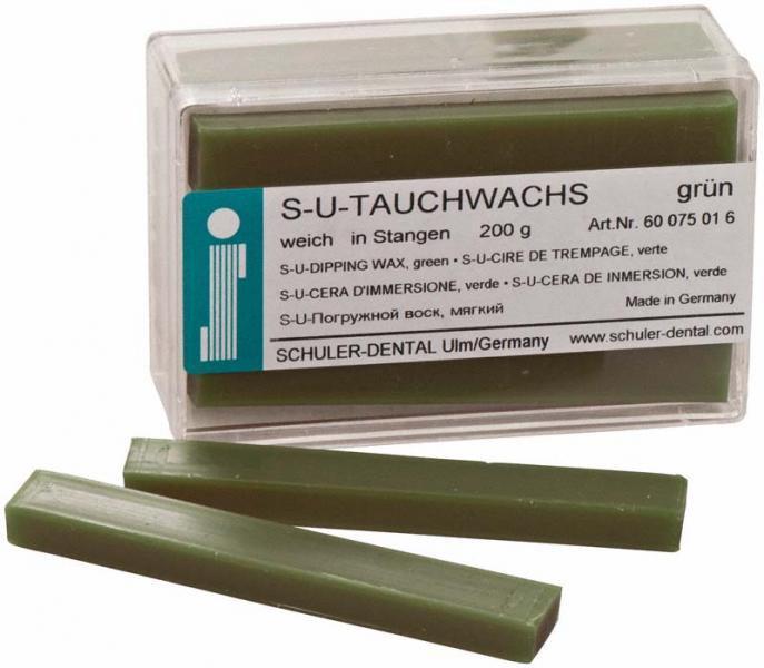 S-U-Погружной воск в брусках зеленый, мягкий
