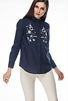 Женская рубашка с вышивкой Цветы