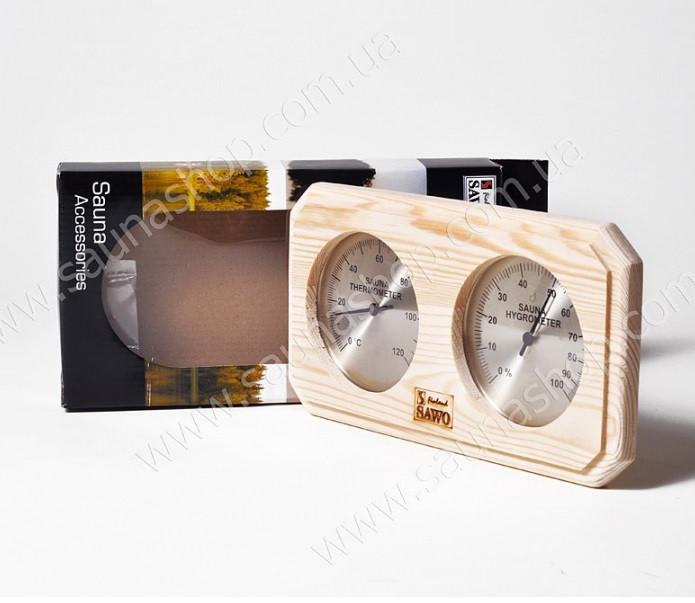 Термогигрометр для бани 2 в 1, Sawo 221-THP сосна