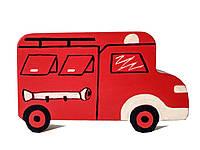 """Машинка деревянная  Hega """"Пожарная машина"""" (131), фото 1"""