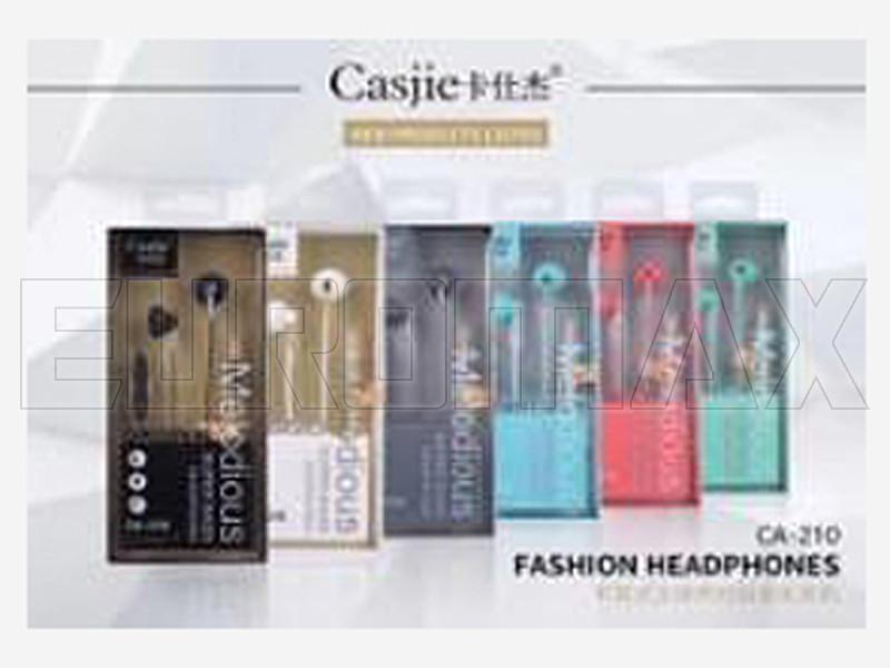 Наушники вакуумные с микрофоном металл Casjie CA-210
