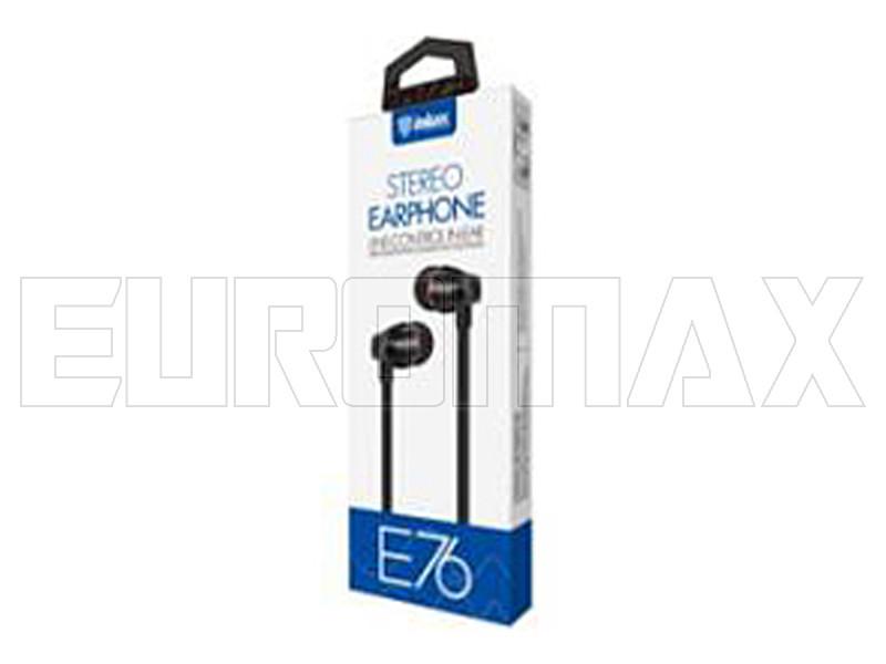 Наушники вакуумные с микрофоном металл Inkax E76