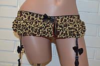Пояс для чулок леопардовый