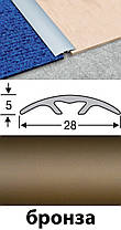 Скрытый порожек анодированный 28мм серебро 2,7м, фото 2