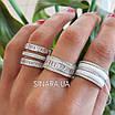 Серебряное кольцо белая керамика и фианиты, фото 7